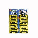 Party-Anthem Stickon Moustache (Set Of 12 )-Black