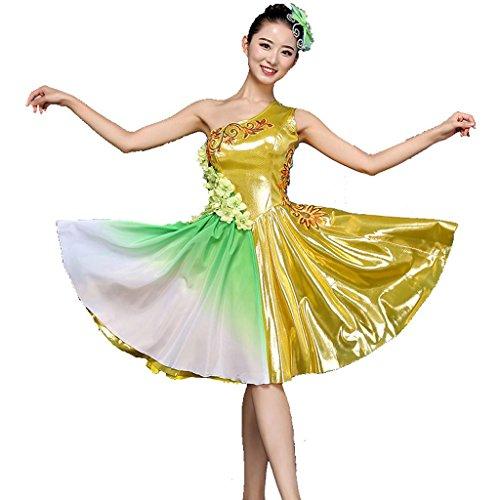 Byjia Regenschirm Tanz Flamenco Kleider Eröffnung Kurze
