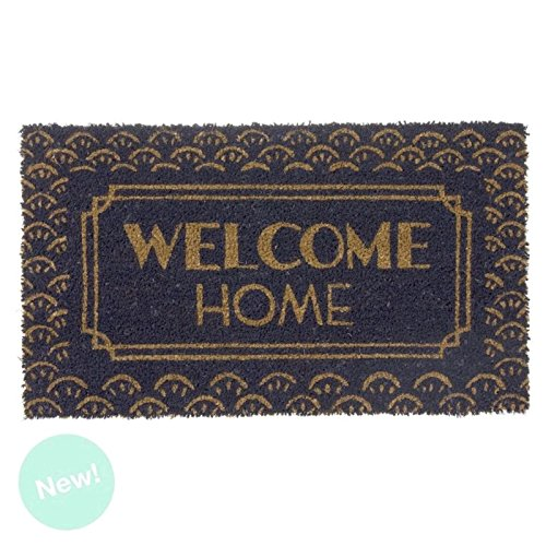 Dcasa - Felpudo fibra coco Welcome Home portobello