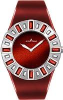 Reloj Jacques Lemans Cannes de mujer de cuarzo con correa de piel rojo de Jacques Lemans