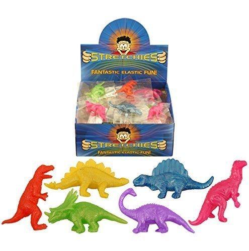 Color Surtido Neón Elástico Dinosaurio - PAQUETE DE 24 - PBF067