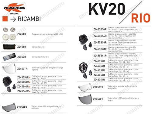 Kappa RICAMBIO Z2455B61R - INTERNO BLU CON GUANCETTE