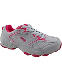 Foster Footwear Ladies 816109 galop Mesh Lace Up Trainers Lightweight Casual Comfort Sports Gym Running Shoes