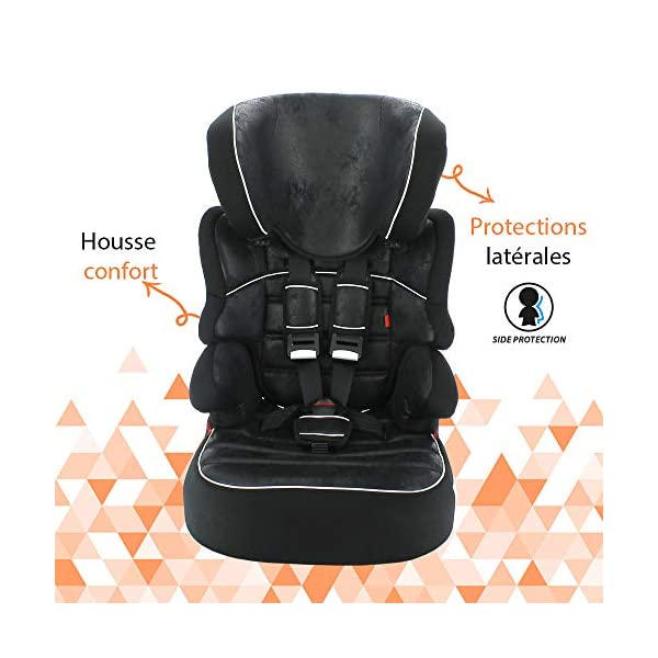 Nania Beline Group 1/2/3 Highback Booster Car Seat, Pink nania High back booster car seat with harness Designed to ensure your little one travels in comfort Padded and adjustable height headrest 5