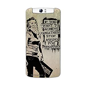 MiiCreations 3D Printed Back Cover for Oppo N1,Motivational Quotation