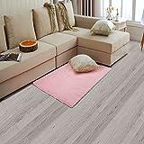 Rutschsicherer weicher Wohnzimmer Schlafzimmer Teppich Bodentuch Langer Plüsch Zottelteppich Bereich Teppich, rose, 19.6x31.4 inches