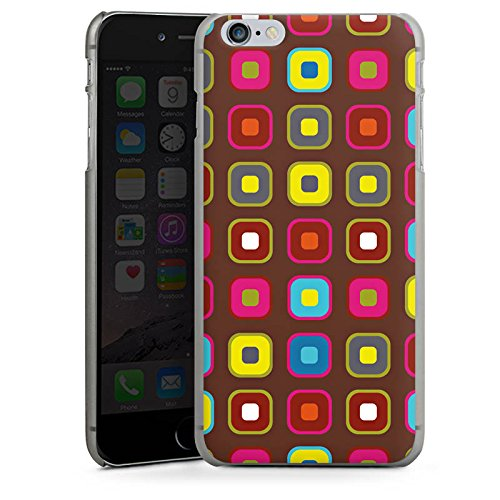 Apple iPhone 5s Housse Étui Protection Coque Papier peint rétro Vintage Rétro Collection 50s CasDur anthracite clair