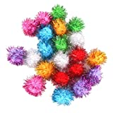Tinsel Pompoms Balls Cat Toy 3.5cm Multicolor Pack of 21