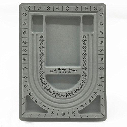 Bead Board Armband Sicke Tray Halskette Design Schmuck machen Handwerk Werkzeug (Bead Design Board)