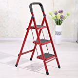 #8: PAffy Premium Heavy Folding Ladder with Wide Steps - Ribano 3 Steps (4.1 FT Ladder) with 7 Years + New Launch Promotional Offer Rs 1699/- till 15/05/2018 only