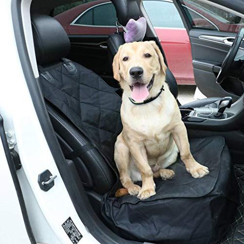 HAHY Haustier-Autositz - Rutschfeste Gummiunterlage Vordersitzabdeckung Mit Anker Und Einstellbar Für Alle Fahrzeugtypen PKW, LKW Und SUVs