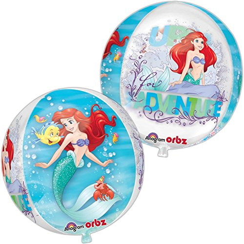 Amscan International 3393701 15 Zoll Ariel Dream Big Klar Orbz Folienballon (Ariel Container)