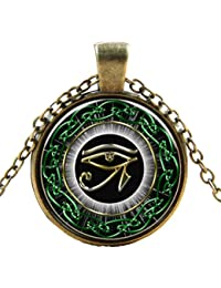 El Ojo de Horus Wedjat Ojo Hora Piedra Preciosa Collar Colgante