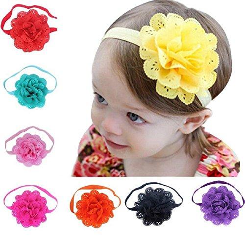 Xuxuou Kind Stirnband Haar Baby Vintage Gedruckt Twisted Elastisches Blume Haarband für Sport Jogging Yoga Make-Up Nettes Haar-accessoire