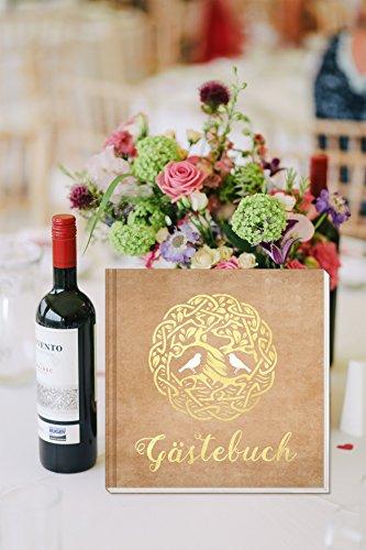 Sophies Kartenwelt Gästebuch Hochzeit - Goldfoliengeprägtes Hardcover / 144 weiße Seiten/Format: 21 x 21 cm/Hochzeitsgästebuch/Hochzeitsalbum/Hochzeitsgeschenk - 4
