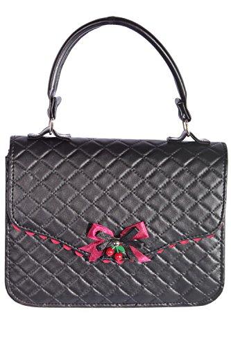 Argyle-tasche (vintage Argyle retro rockabilly Tasche BOW Cherry Handtasche)