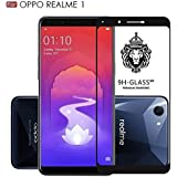 KOKO 5D Tempered Glass With Curved Edges And 9H Hardness - Full Glue Edge-Edge Screen Protection For Oppo Realme 1 (Black)
