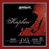 D\'Addario Bowed Corde seule (Ré) pour violoncelle D\'Addario Kaplan, manche 4/4, tension Light