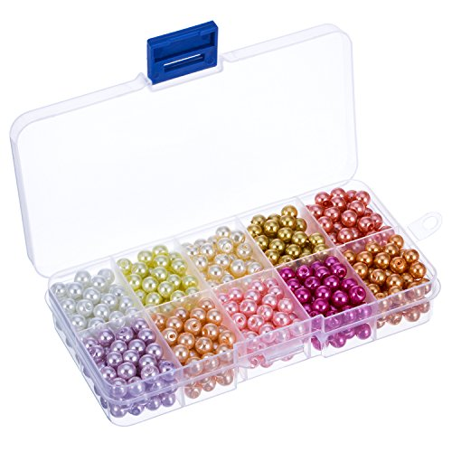 bememo-600-pieces-6-mm-round-glass-bead-pearl-imitation-beads-with-storage-box-for-diy-jewellery-mak