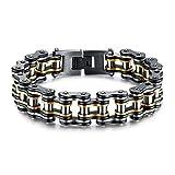 bigsoho - Bracelet chaîne de moto en acier inoxydable - Pour homme