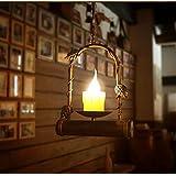 Vela Lámpara De Lron Resina Pulsador Colgante Creativo Único Cabeza Luz País Bar Cafe Restaurante Retro Nostalgia Vintage Espacio 5-10 Metros Cuadrados (25 * 87Cm) Ajustable