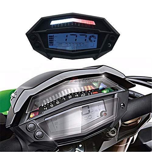 CHUDAN Z1000 Tachometer Gang LCD-Instrument Motorrad Digital Kilometerzähler Odometer Motorrad Backlit Tachometer