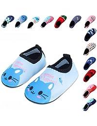 Laiwodun zapatos de niño Zapatos de agua de natación Niños Zapatos de niños descalzo Aqua calcetines para la piscina de playa Surf Yoga…