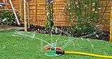 Irrigatore a 3 braccia per prato, irrigatore rotante da giardino, compatibile con irrigatore Hozelock
