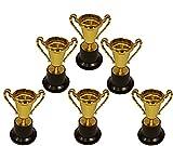 KSS 6 X Gold Pokal auf Sockel groß ca. 12 cm für Kindergeburtstag, Mitgebsel, Mitbringsel, Tombola, Verlosung, kleine Preise