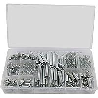 Federn Sortiment Set,200 Stück Spring Assortment Zugfedern und Druckfedern im Aufbewahrungsbox