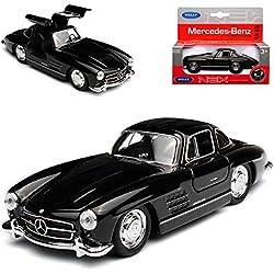 alles-meine GmbH Mercedes-Benz 300SL Coupe Schwarz W198 1954-1963 Flügeltürer ca 1/43 1/36-1/46 Welly Modell Auto