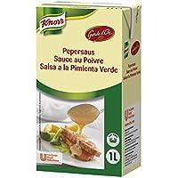 Knorr Garde D'Or Salsa Pimienta Verde líquida lista para usar brik [6 unidades x 1L]