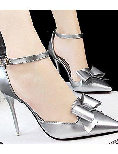 WSS 2016 Chaussures Femme-Décontracté-Noir / Rose / Rouge / Blanc / Argent / Gris-Talon Aiguille-Talons-Talons-Laine synthétique silver-us8 / eu39 / uk6 / cn39