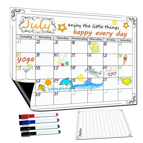 lockways magnetisch Dry Erase Kalender-Monatliche weiß/Magnettafel/Whiteboard Organizer Planer, Kühlschrank Magnet Kalender Organizer für Küche Kühlschrank