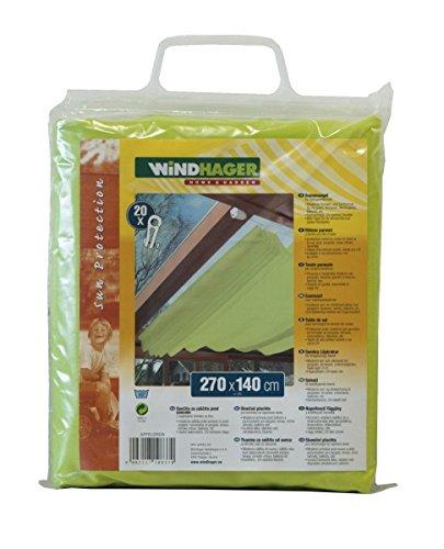 Windhager Sonnensegel für Seilspanntechnik, Apfelgrün, 270 x 140 cm