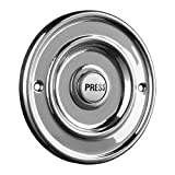 Byron Wired Bell Push Flush Mounted - Chrome
