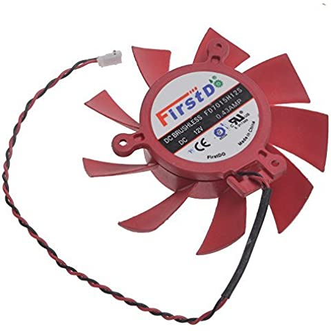 FD7015H12S 12V 0.43A For Mac Pro ATi Radeon HD 5770 / 5850 Series Video Card Cooling Fan