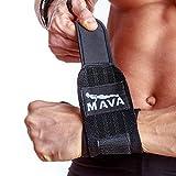 Wrist Wraps (1Paar/2Packungen) für Gewichtheben/Kreuz Training/WOD/Gym Workout/Kraftdreikampf/Bodybuilding-14Zoll lang/7,6cm breit-Heavy duty-strong Unterstützung mit Klettverschluss-Mava Unisex Gear, unisex, schwarz