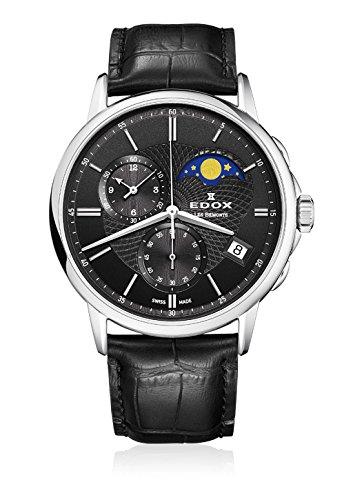 EDOX Orologio da polso da uomo Les bémonts Cronografo fase lunare Data quarzo 016513Nin