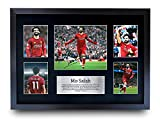 HWC Trading Mohamed Mo Salah Gifts Signed Printed Autograph Liverpool Gift Print Photo Picture Display