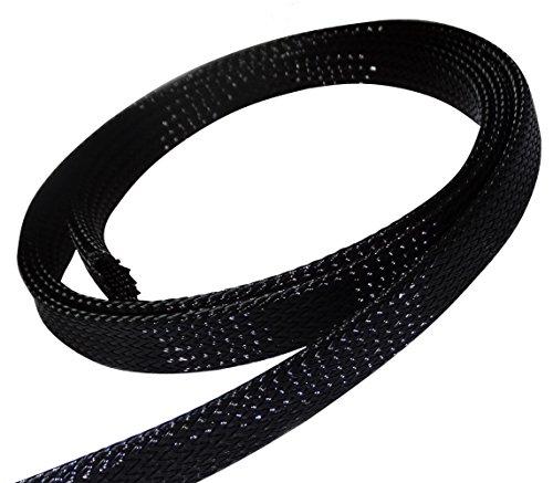 Aerzetix: 4.5m Meter 10 mm 9-15 Schrumpfschlauch Geflecht Drahtseil Geflecht-Hülle Kabelröhren Geflochtenes Polyester