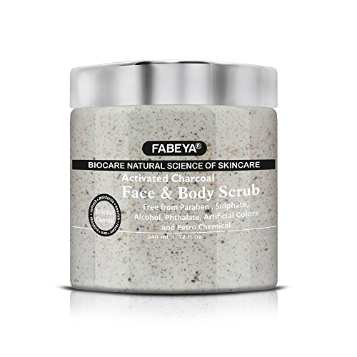 Fabeya Biocare Natural Activated Charcoal Face And Body Scrub - 340 Ml (Pack Of 1)