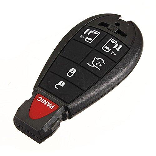Kungfu Mall 6-Tasten-Schlüsselanhänger Keyless Remote Transmitter für Chrysler Dodge (Dodge 2011 Caravan Schlüsselanhänger)