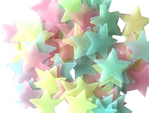 Dosige 100 Pcs Parche Luminoso Estrella Pegatinas