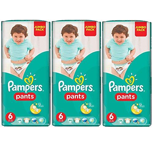 Preisvergleich Produktbild Pampers Pants Monatspackung Größe 6 XL 12+ kg, ( 3x44 Windeln-Pants)