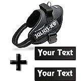 Canicaprice Julius K9 Power IDC Geschirr schwarz + 2 Etiketten