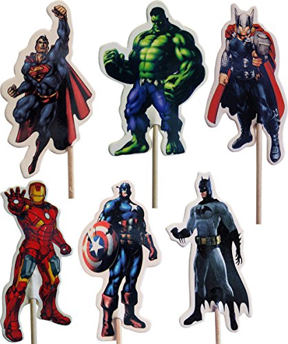 Avengers-Kuchen-Toppers (Packung mit 24)