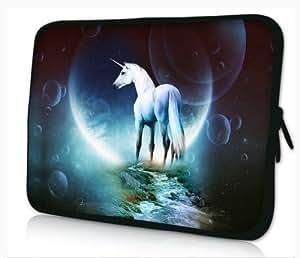 tolulu & # 174; blanc Unicorn 31,8cm 33cm 33,8cm manches pour ordinateur portable pour ordinateur portable sac de transport pour Apple MacBook Pro 13Air 13/Samsung 900X 3530535U3/Dell XPS 13Vostro 3360Latitude FRR0G/Asus UX3233UX31U36assortie–X35/SONY SD413/Acer/13/Thinkpad X1L330E330