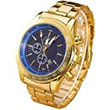 HOT, Men Stainless Steel Watch Analog Quartz Movement Wrist Watches Blue By YANG-YI