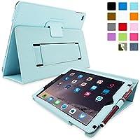 Snugg iPad Air 2 Caso (Azzurro), Copertina in Ecopelle Intelligenti, Rivestimento Interno di Qualità in (Cinghia Web Vita)